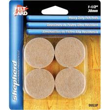 "Shepherd Hardware Cleaning Pad - 1Each - Round x 1.50"" (38.10 mm) Diameter - Heavy Duty - Felt"