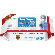 Pro-Com Products Sanitizing Wipe - White - Hygienic, Disinfectant, Anti-bacterial - For Hand, Hospital, Public Facilities, Household, Office, Multipurpose - 60 Per Pack - 24 / Carton