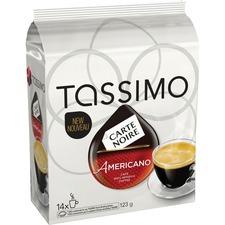 Elco Tassimo Americano Coffee Pod - Compatible with Tassimo Brewer - Americano, Arabica, Latin America - Dark - 4.3 oz - 14 / Bag