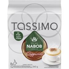 Elco Tassimo Nabob Cappucino Pod - Compatible with Tassimo Brewer - Cappuccino, Dark Espresso - 9.3 oz - 8 / Box