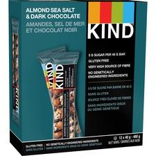 KIND Almond Sea Salt and Dark Chocolate Bar - Gluten-free, Individually Wrapped, Non-GMO - Almond, Dark Chocolate, Sea Salt - 39.7 g - 12 / Box