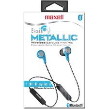 Maxell Bass13 Earset - Stereo - Wireless - Bluetooth - Earbud - Binaural - In-ear - Blue