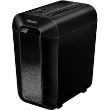 Fellowes LX65 Cross-cut Shredder - Non-continuous Shredder - Cross Cut - 10 Per Pass - for shredding Staples, Paper, Paper Clip, Credit Card - P-4 - 6 Minute Run Time - 20 Minute Cool Down Time - 15.14 L Wastebin Capacity - Black