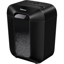 Fellowes LX45 Cross-cut Shredder - Non-continuous Shredder - Cross Cut - 8 Per Pass - for shredding Staples, Paper, Paper Clip, Credit Card - P-4 - 6 Minute Run Time - 20 Minute Cool Down Time - 15.14 L Wastebin Capacity - Black