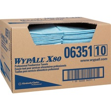 """Wypall Kitchen Surface Cleaner - Cloth - 13.50"""" (342.90 mm) Width x 24"""" (609.60 mm) Length - 150 / Box - Blue"""