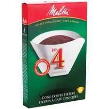 Melitta Paper Filter - #4 Cup(s) Cone - 40 / Box - White