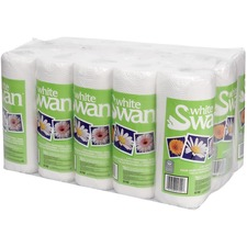 """White Swan Kitchen Towel Poly Pack - 2 Ply - 11"""" x 8.3"""" - 70 Sheets/Roll - White - Anti-contamination - For Restaurant, Kitchen, Cafeteria, Medical, Dental Clinic, Office Per Pack - 15 / Pack"""