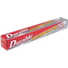 "Durable Packaging Aluminum Foil Wrap - 12"" (304.80 mm) Width x 50 ft (15240 mm) Length - Durable - Aluminum Foil"