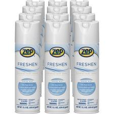Zep Commercial Freshen Disinfectant Spray - 15.5 fl oz (0.5 quart) - Spring Mist Scent - 1 Carton - Clear