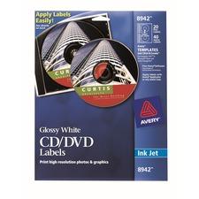 AVE 8942 Avery Inkjet Glossy CD/DVD Labels AVE8942