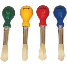 "Funstuff Paint Brush - 4 Brush(es) - 0.50"" (12.70 mm) Bristle - No. 5 - Nickel Plated Ferrule"