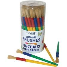 """Funstuff Paint Brush - 58 Brush(es) - 0.31"""" (7.87 mm) Bristle Plastic - Plastic Ferrule"""