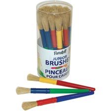 """Funstuff Paint Brush - 30 Brush(es) - 0.51"""" (12.95 mm) Bristle Plastic - Plastic Ferrule"""