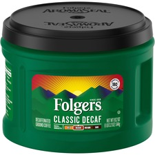 Folgers® Classic Decaf Coffee - Decaffeinated - Mountain Grown, Arabica - Classic - 22.6 oz - 1 Each
