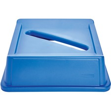 Rubbermaid Commercial Recycling Container Lid - 1 Each - Blue