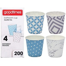 Goodtimes Brand Cup - 200 / Pack - 88.72 mL - 200 / Pack - Paper - Cold Drink