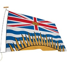 "L'étendard Province Flag - Canada - British Columbia - 72"" x 36"" - Nylon"