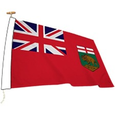 "L'étendard Province Flag - Canada - Manitoba - 72"" x 36"" - Nylon"