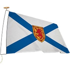 "L'étendard Province Flag - Canada - Nova Scotia - 72"" x 36"" - Nylon"