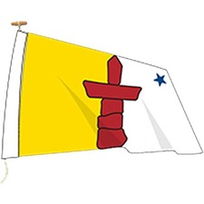 "L'étendard Province Flag - Canada - Nunavut - 72"" x 36"" - Nylon"