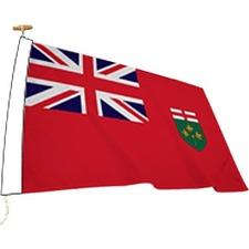 "L'étendard Province Flag - Canada - Ontario - 72"" x 36"" - Nylon"