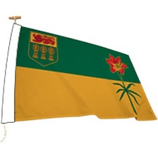 """L'étendard Province Flag - Canada - Saskatchewan - 72"""" x 36"""" - Nylon"""