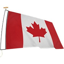 "L'étendard National Flag - Canada - 72"" x 36"" - 200 Denier Nylon"