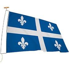 "L'étendard Province Flag - Canada - Quebec - 72"" x 36"" - 200 Denier Nylon"