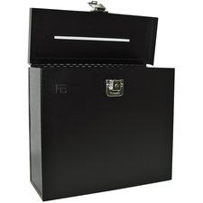 """FC Metal Storage Case - External Dimensions: 8.5"""" Height - Metal - Black - 1 Each"""