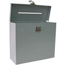 "FC Metal Storage Case - External Dimensions: 8.5"" Height - Metal - Gray - 1 Each"
