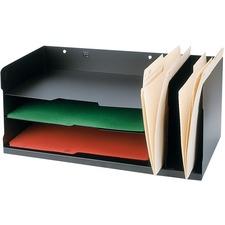 FC Metal Desktop Organizer - Desktop - Black - Metal - 1 Each