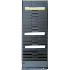 """FC Metal Wall Rack - 18 Compartment(s) - Compartment Size 8"""" (203.20 mm) x 5"""" (127 mm) x 0.25"""" (6.35 mm) - 28"""" Height x 10.5"""" Width x 1.3"""" Depth - Black - 1 Each"""