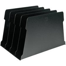 """FC Metal Desktop File Sorter - 8 Compartment(s) - 7.8"""" Height x 16"""" Width x 12.3"""" Depth - Desktop - Black - Metal - 1 Each"""