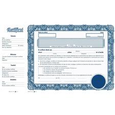 eSc Share Certificate - Blue - 10 / Pack
