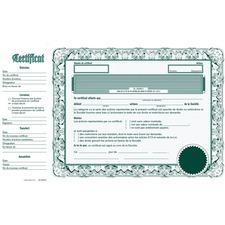 eSc Share Certificate - Green - 10 / Pack