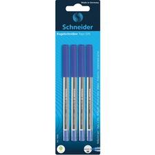 Schneider Tops 505 Ballpoint Pens - Medium Pen Point - Blue - Stainless Steel Tip - 4 / Pack