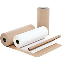 """CPP Kraft Wrapping Paper - 36"""" (914.40 mm) Width x 900 ft (274320 mm) Length - Durable - 18.14 kg Paper Weight - Kraft Paper - White"""
