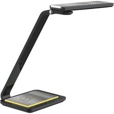 Royal Sovereign RDL-140Qi LED Desk Lamp with Wireless Charger - LED - Black - Desk Mountable - for Desk