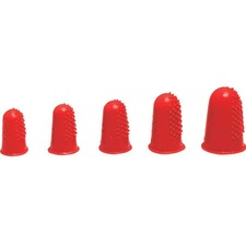 Westcott Ventilated Finger Tips, Extra Large or Thumb - #3 with - Extra Large Size - Rubber - Red - 12 / Pack