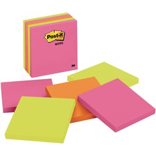 """Post-it® Adhesive Note - 4"""" x 4"""" - Square - 5 / Pack"""