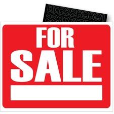Headline Information Sign - 1 Each - For Sale Print/Message - Rectangular Shape - Laminated, Self-adhesive - Cardboard, Vinyl