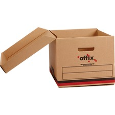 "Offix Enviro Storage Case - Media Size Supported: Letter 8.50"" (215.90 mm) x 11"" (279.40 mm), Legal 8.50"" (215.90 mm) x 14"" (355.60 mm) - Lid Closure - Stackable - Recycled - 25 / Pack"
