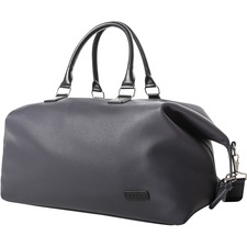 "bugatti Contrast Carrying Case (Duffel) Travel Essential - Navy - Vegan Leather - Handle, Shoulder Strap - 12"" (304.80 mm) Height x 19.50"" (495.30 mm) Width x 9"" (228.60 mm) Depth"