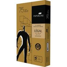 "Paperline High Grade Laser, Inkjet Copy & Multipurpose Paper - White - 98 Brightness - Legal - 8 1/2"" x 14"" - 20 lb Basis Weight - 5000 / Box"