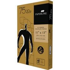 "Paperline High Grade Laser, Inkjet Copy & Multipurpose Paper - 98 Brightness - Legal - 11"" x 17"" - 20 lb Basis Weight - 500 / Pack"