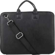 """bugatti Carrying Case for 13.3"""" Tablet - Black - Vegan Leather - Shoulder Strap - 1 Pack"""