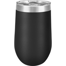 Derome Isotherm Cup - 473.18 mL - 1 Each - Black, Silver, Clear - Stainless Steel