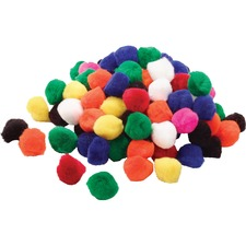 """Funstuff Pom-Poms ½"""" , Assorted Colours. Pkg of 100. - Craft - Recommended For - 100 / Pack - Assorted"""