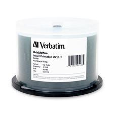 Verbatim DVD-R 4.7GB 8X DataLifePllus Silver Inkjet Printable - 50pk Spindle