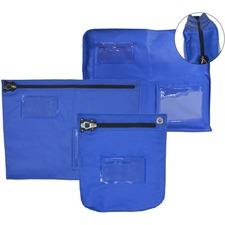 """Winnable Cash Bag Zip Close - 10"""" (254 mm) Width x 10"""" (254 mm) Length - Blue - 1Each"""